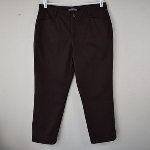 Relaxed Fit At The Waist Four Pocket Brown Pants